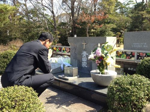神戸市の霊園に眠る故青田昇氏の...