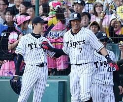 【野球】阪神・糸井 全得点絡んだ「この感じをキープしていきたい」3打数2安打 .330 4本 25打点 3盗塁