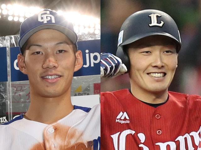 中日・京田陽太内野手(左)と西武・源田壮亮内野手\u2015 スポニチ