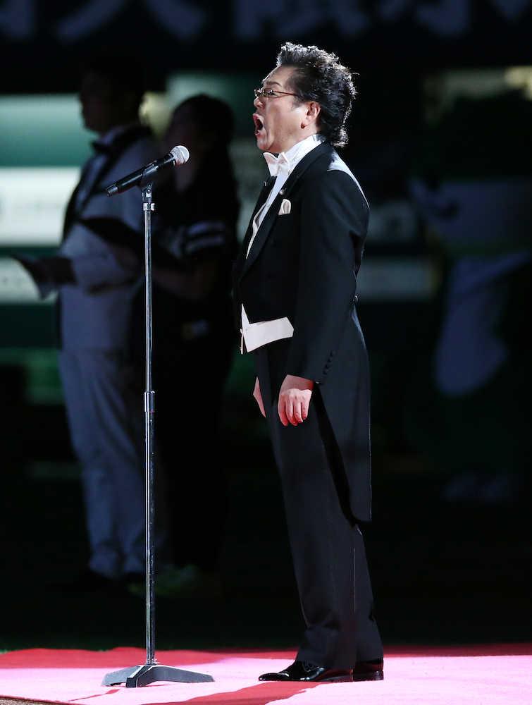 テノール歌手・榛葉昌寛 3年ぶり国歌独唱「神聖な気持ち」― スポニチ ...