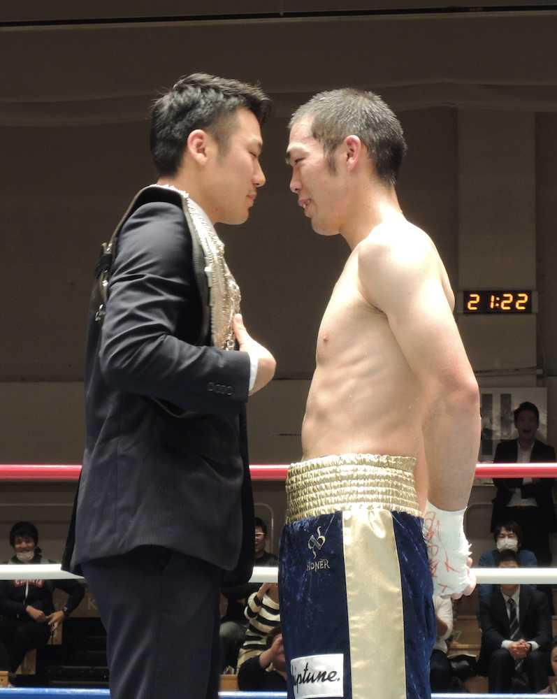 AKBカフェ勤務の異色ボクサー・加藤収二、判定勝ちで王座挑戦権