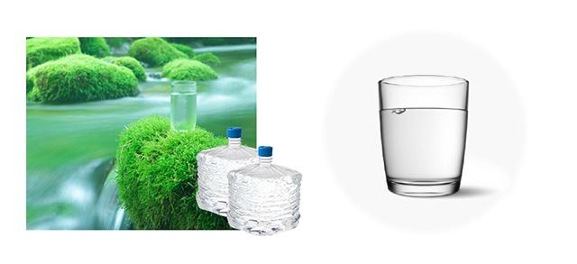 産地直送+天然水