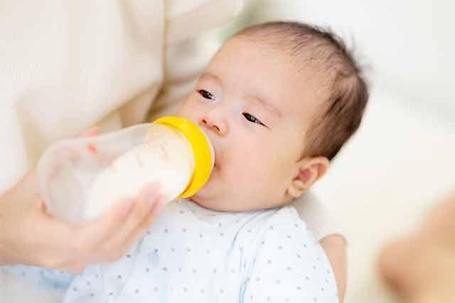 赤ちゃんのミルクにも