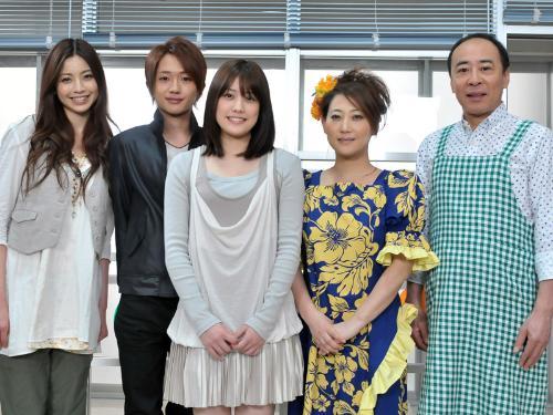 NHKドラマ「ゴーストフレンズ」の取材会に出席した(左から)