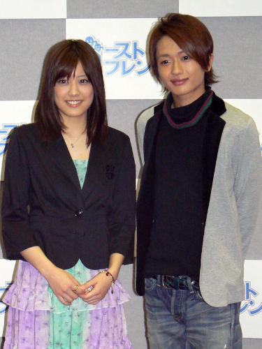 NHKドラマ「ゴーストフレンズ」の試写会に出席した(左から)