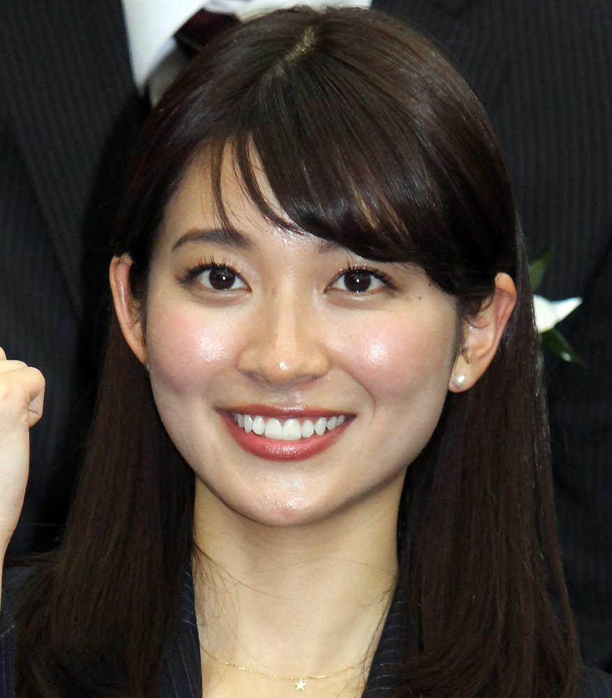 TBSの入社式に出席した新人の山本里菜アナ