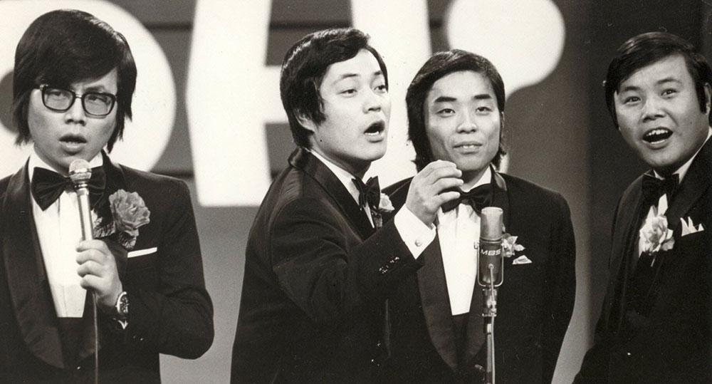 ヤングおー!おー!」の「ザ・パンダ」で人気を博した(左から)桂文珍 ...