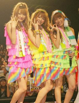 ヘキサゴンファミリー3人で結成したアイドルグループ『Pabo』。
