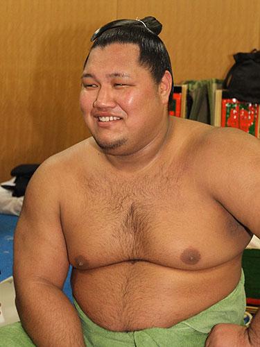 笑顔のお相撲さん松鳳山
