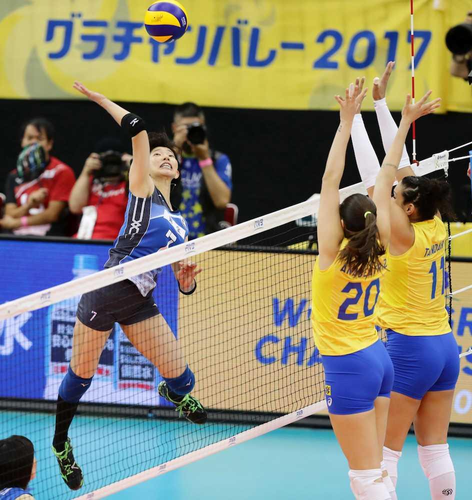 日本女子 30年ぶり対ブラジル戦...