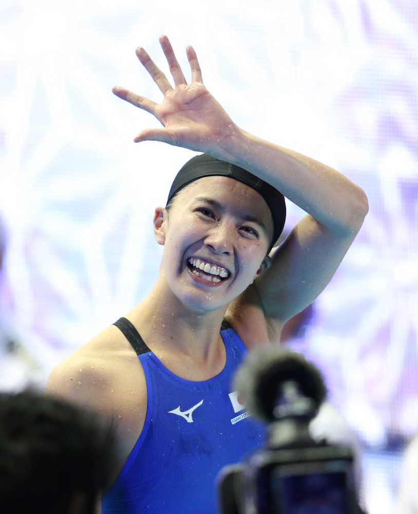大橋悠依 パンパシフィック選手権第3日>女子200メートル個人メドレー、金メダルを