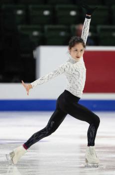 スケートアメリカ公式練習 宮原...