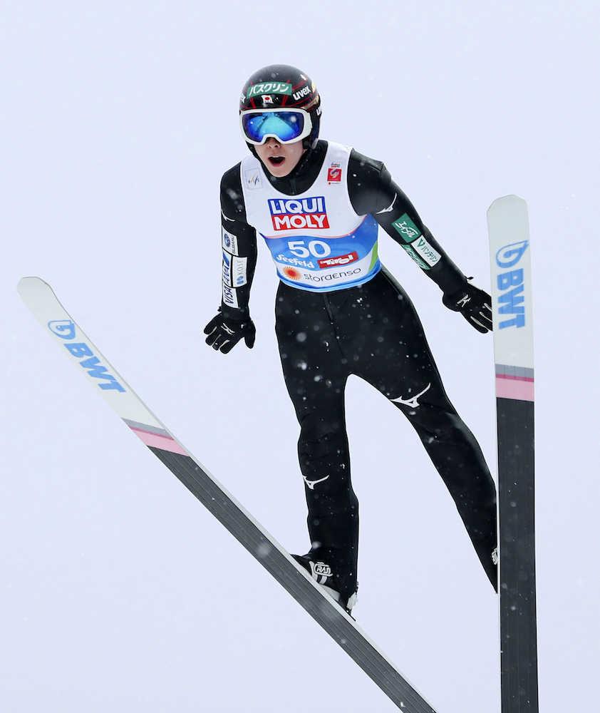 陵侑は14位 世界選手権ジャンプ...